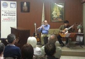 """Sonata en La menor"" de Jean-Baptiste Loeillet du Gant. Interpreta Carles Bueno, flauta travessera, i Pere Salicrú, guitarra."